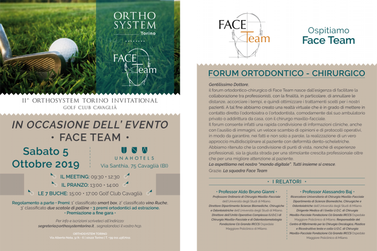 flyer evento face team 5 ottobre 19